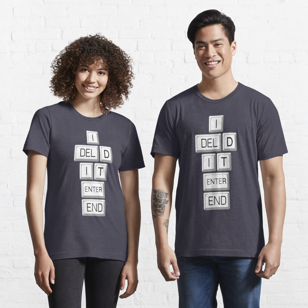 I Deleted it Farewell Social Media Essential T-Shirt