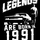 Legends Are Born In 1991 by wantneedlove