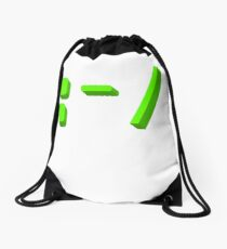 Sad face kaomoji emoticon Drawstring Bag