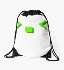 Cute kaomoji emoticon face Drawstring Bag