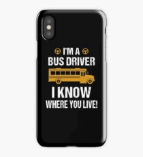 Funny Bus Driver iPhone Case