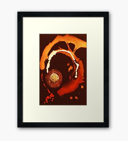 Splashed Across SPACE Framed Print