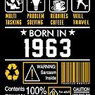 Birthday Gift Ideas - Born In 1963 by wantneedlove