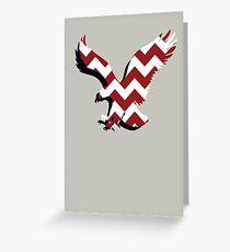Chevron Auburn Eagle Greeting Card