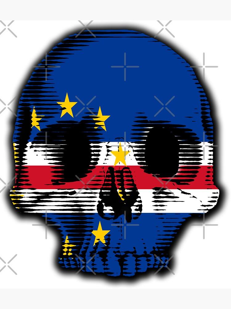Cape Verde Flag Skull Distressed Vintage Retro by thespottydogg