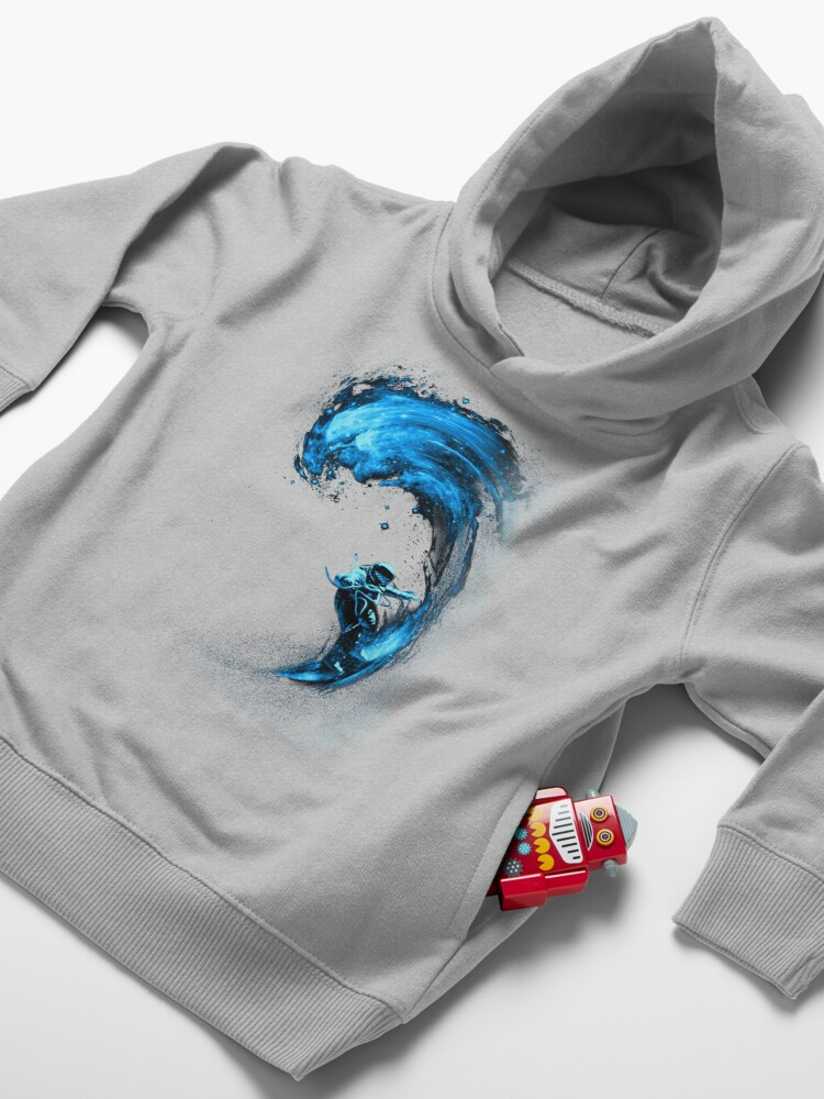 Alternate view of Space Surfing Toddler Pullover Hoodie