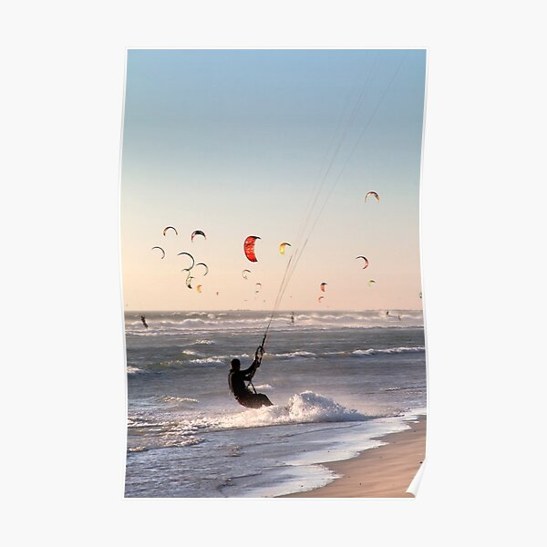 Kitesurfers Paradise at Sunset Poster