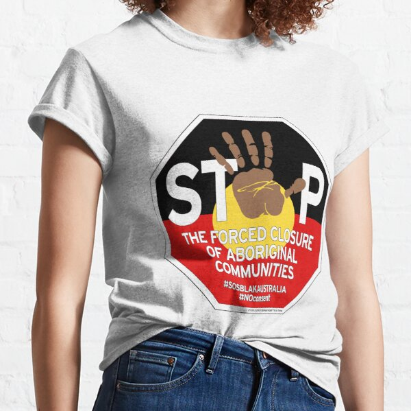 OFFICIAL MERCHANDISE - #SOSBLAKAUSTRALIA design 4 Classic T-Shirt
