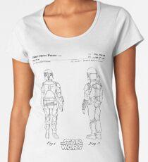 Star Wars Boba Fett Patent Black Women's Premium T-Shirt