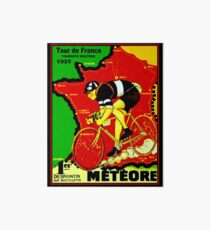TOUR DE FRANCE; Vintage Cycle Racing Advertising Print Art Board