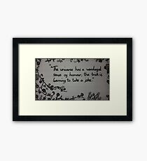Universal Humour Framed Print