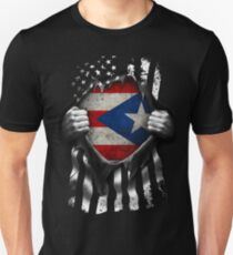 Puerto Rican American Flag USA Puerto Rico Unisex T-Shirt
