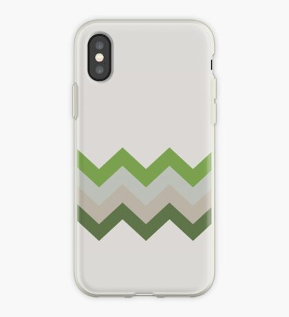 Green zag iPhone Case