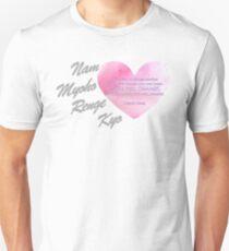 Nam Myoho Renge Kyo Heart Unisex T-Shirt