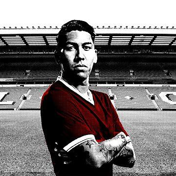 Roberto Firmino Pop Art Design - Liverpool FC (LFC) Fans de regalo de ConArtistLFC