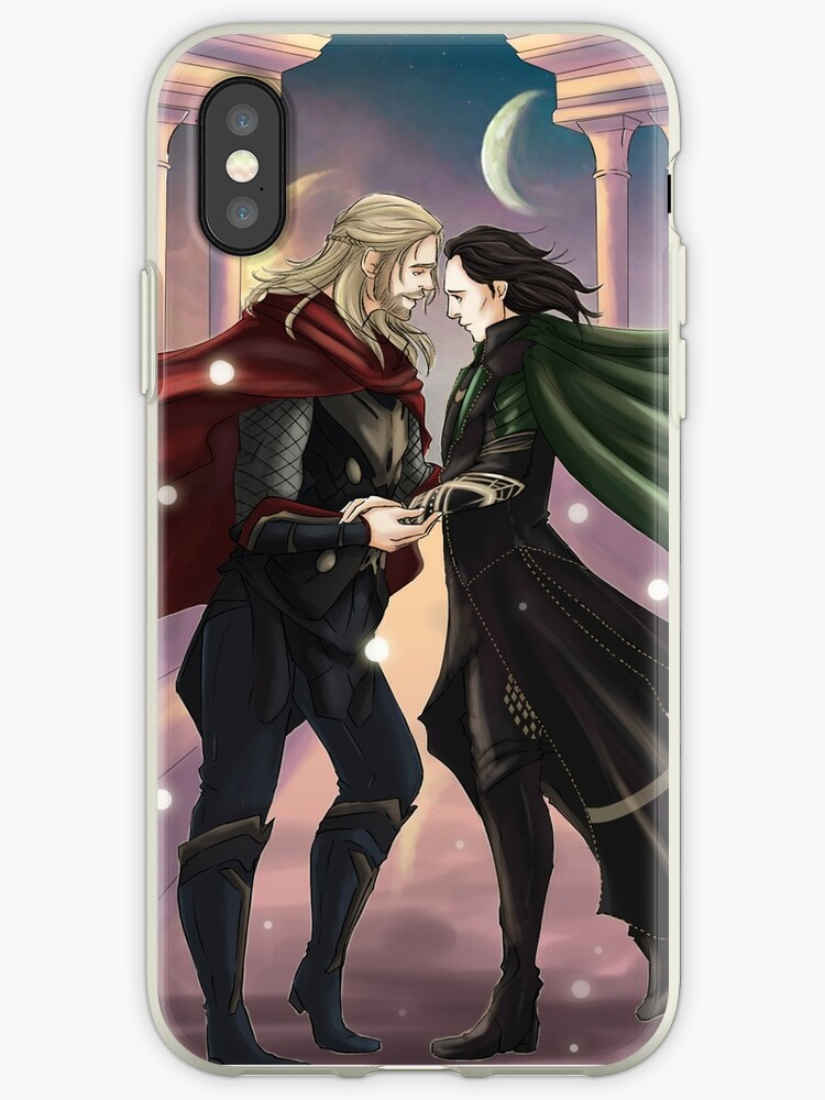 size 40 a382a dfad3 'Thor and Loki' iPhone Case by uncreativeart