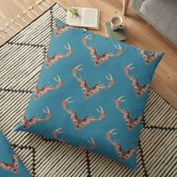 Turnip the polygon stag Floor Pillow