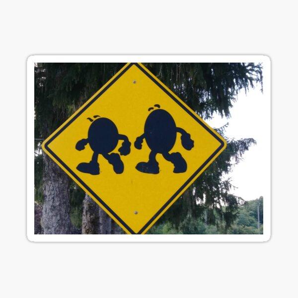 Beware - M&Ms crossing..... Sticker