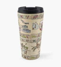 Panels 1 to 4 of the Gabeaux Tapestry, the Outlander story Travel Mug