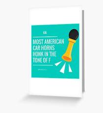 American Car Horns Greeting Card