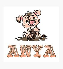 Anya Piggy Photographic Print