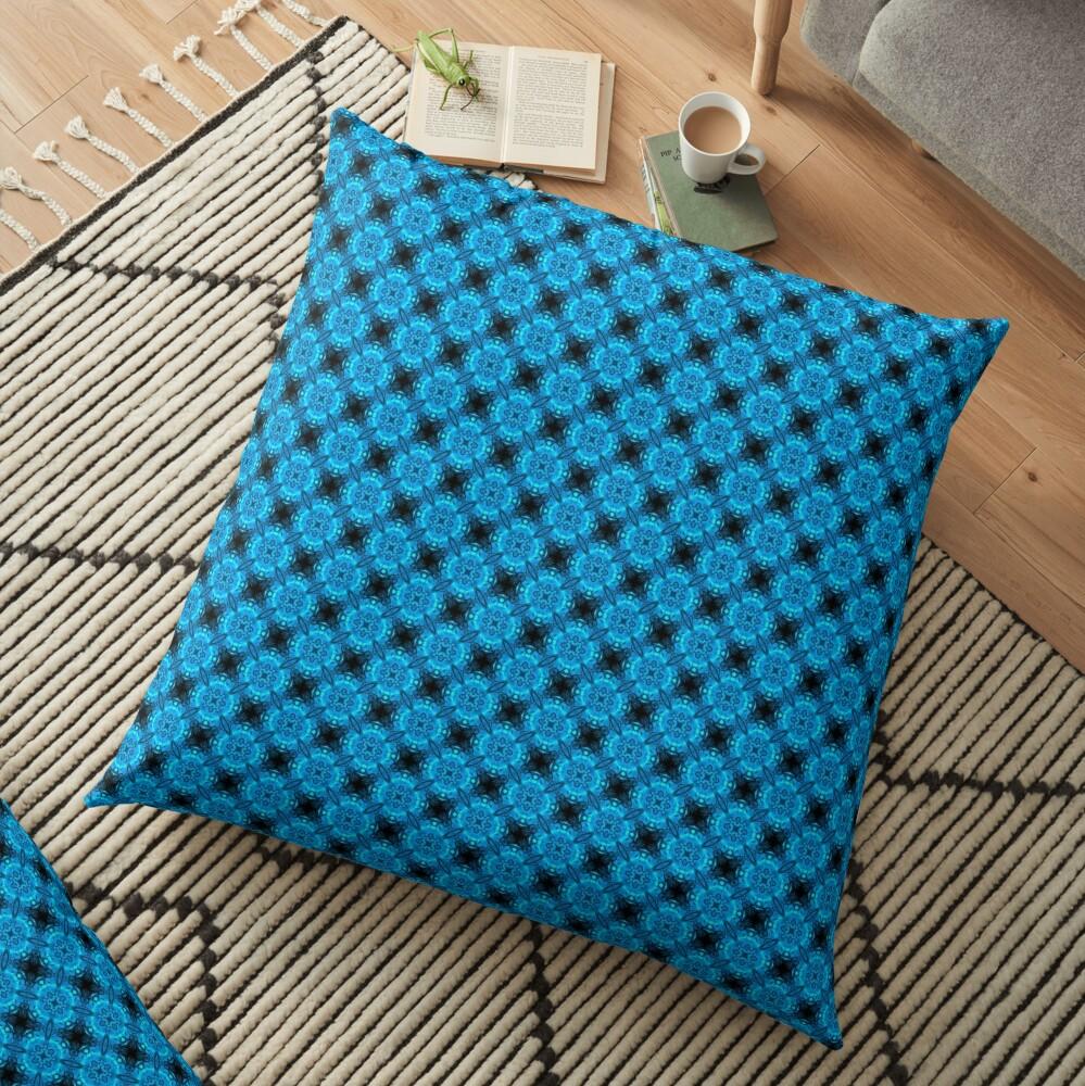 Midnight Lights Festival Pattern Floor Pillow