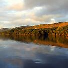 Loch  Awe Reflections by Alexander Mcrobbie-Munro