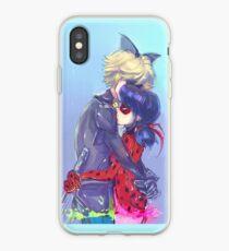 ladybug cat hug iPhone Case