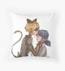 Marinette & Chat Noir Throw Pillow