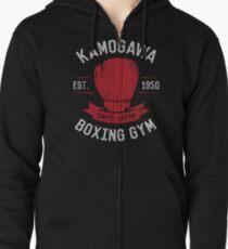 Kamogawa Boxing Gym Shirt - Vintage Design Hoodie mit Reißverschluss
