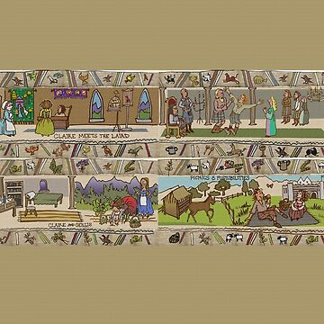 Panels 9 to 12 of the Gabeaux Tapestry, the Outlander story by jennyjeffries