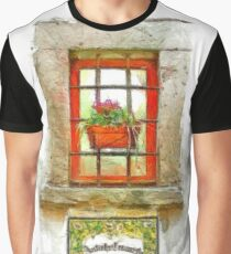 Window with flower pot Graphic T-Shirt