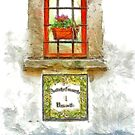 Window with flower pot by Giuseppe Cocco