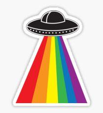 UFO Rainbow Sticker