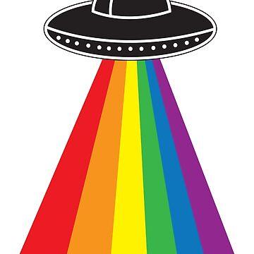UFO Rainbow by LisaDylanArt