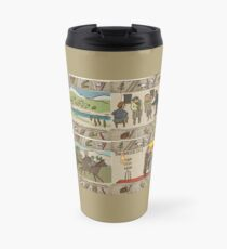 Panels 13 to 16 of the Gabeaux Tapestry, the Outlander story Travel Mug