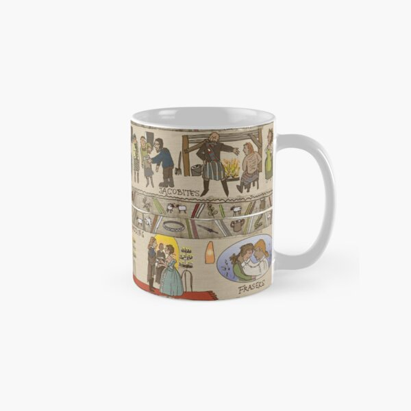 Panels 13 to 16 of the Gabeaux Tapestry, the Outlander story Classic Mug