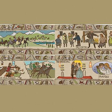 Panels 13 to 16 of the Gabeaux Tapestry, the Outlander story by jennyjeffries