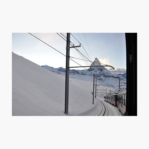 Gornergrat Bahn – the matterhorn railway  Photographic Print