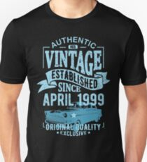 Vintage established since april 1999 Unisex T-Shirt