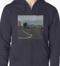Carrick Crossroads, Donegal(Rectangular)  Zipped Hoodie