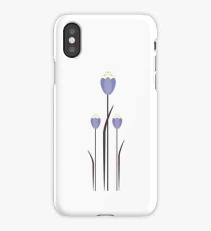 Minimal Bluebells iPhone Case