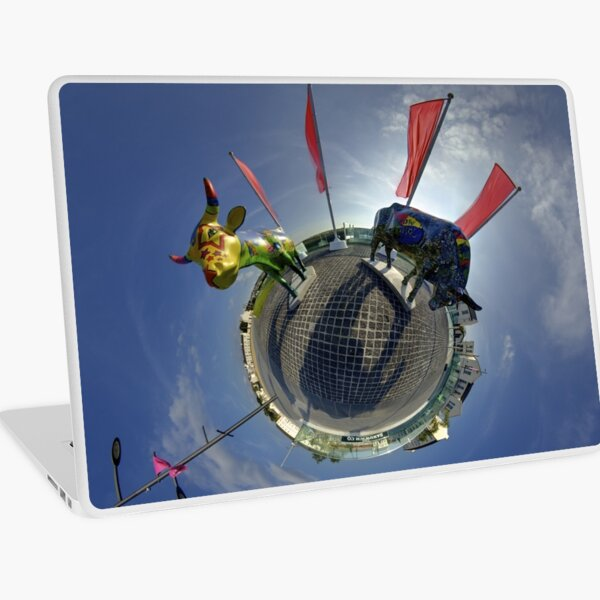 Two Cows on Parade, lower - Ebrington Square, Derry Laptop Skin
