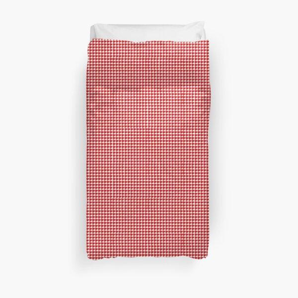Poppy Checkered Background Duvet Cover