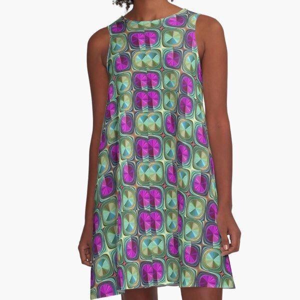Summer Berries  A-Line Dress