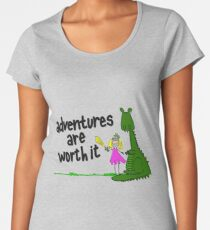 Dragon and Knight: Adventures Are Worth It Women's Premium T-Shirt