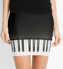 Piano Music Black and White Mini Skirt