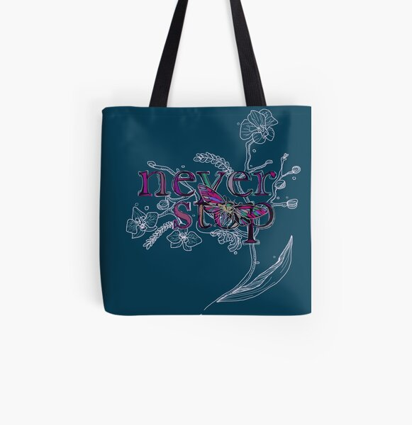 Neverstop Orchid All Over Print Tote Bag