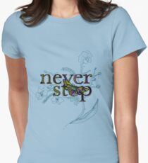 Neverstop Orchids - version 2 Women's Fitted T-Shirt