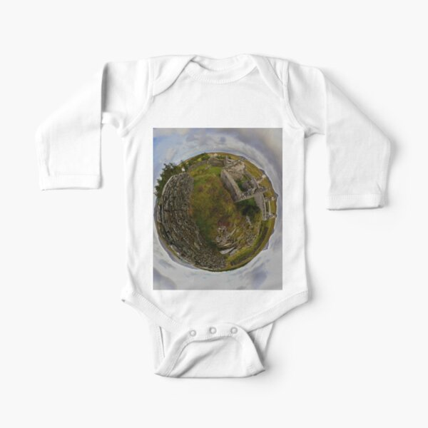 Ruins at Cashelnagor, County Donegal, Ireland Long Sleeve Baby One-Piece